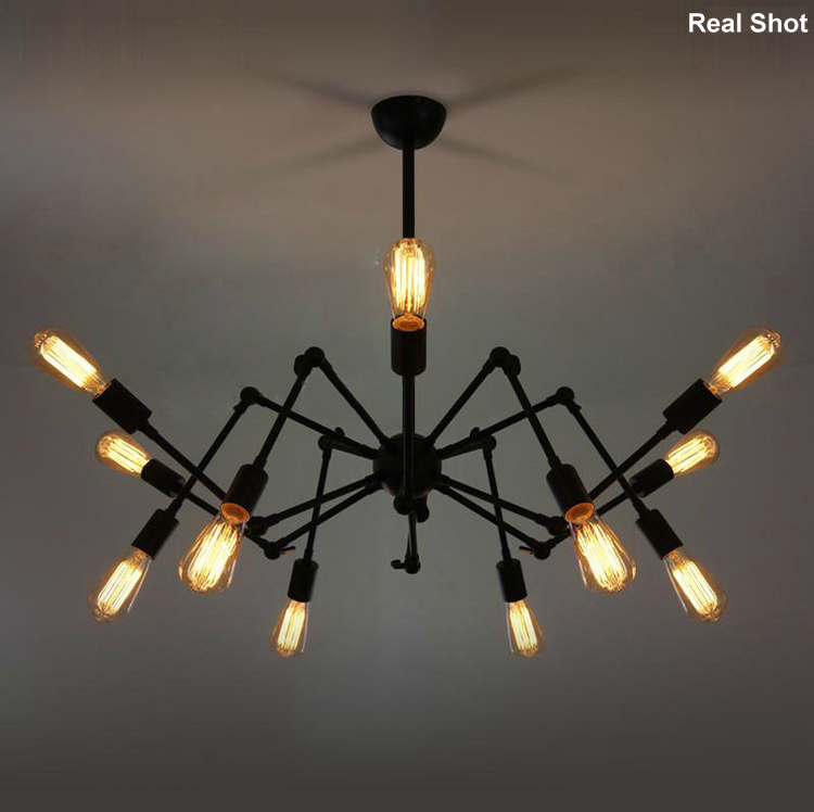 Modern spider retractable 8/ 12/ 16 head lights pendant light Ron Gilad Dear Ingo loft lamp Loft Industrial American Bar