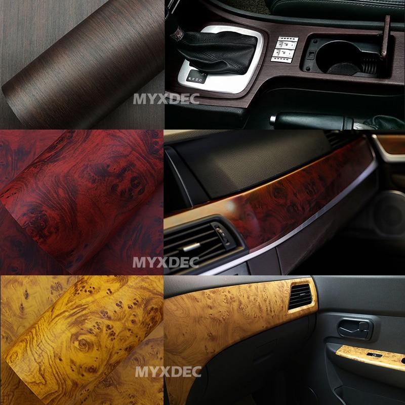 122 * 30cm lipni vinilo medžio grūdėto audinio tekstūra, - Automobilių išoriniai aksesuarai - Nuotrauka 6