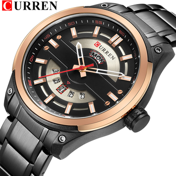 CURREN 8319 Men Watches Quartz 30M Waterproof Watches Men's Stainless Steel With Box
