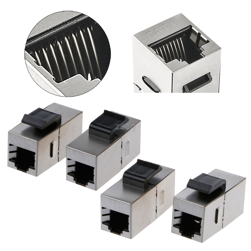 Shielded Pass-through Network Module Gold-plated RJ45 Connector Socket Jack JUN04 Dropshipping