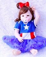 23 полный силиконовый корпус Reborn Младенцы Новорожденные reborn baby lol куклы menina Популярные приманки Игрушки для малышей куклы дети подарки на де