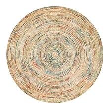 купить Ethnic Geometric Soft Round Carpet For Living Room Floral Flower Floor Door Chair Baby Play Mat Pad Parlor Bedroom Area Rugs по цене 610.93 рублей