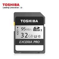 Original Toshiba exceria pro SD card N401 SD flash card SD memory card UHS I U3 32GB 64GB 128GB Class10 4K UltraHD SDHC SDXC