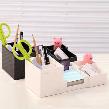 Creative Korean Desk Organizer Pen Holder Multifunctional Plastic Stationery Holders Student School Office Supplies - DISCOUNT ITEM  38% OFF All Category