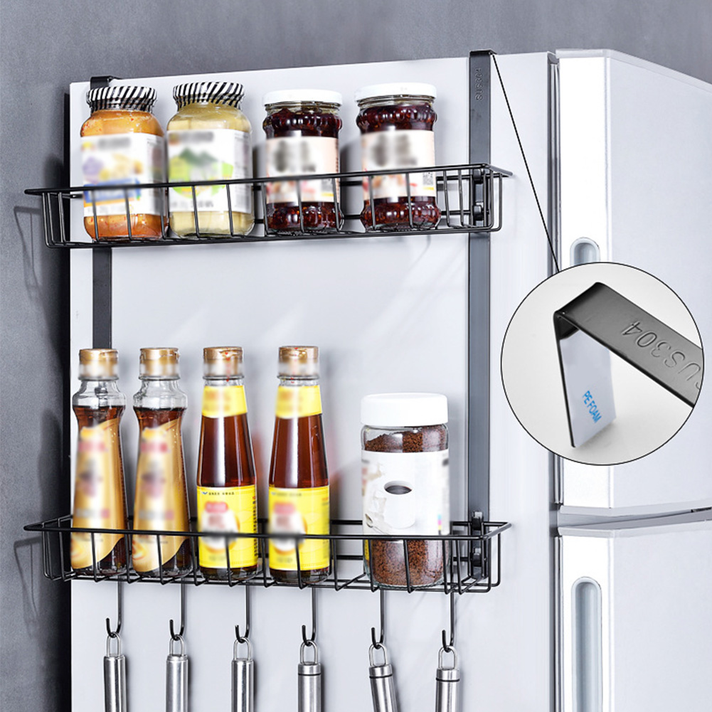 Storage Rack Shelf Practical Jar Spice Cabinet Kitchen Cupboard Organizer Countertop Refrigerator Hanging Basket HomeStorage Rack Shelf Practical Jar Spice Cabinet Kitchen Cupboard Organizer Countertop Refrigerator Hanging Basket Home