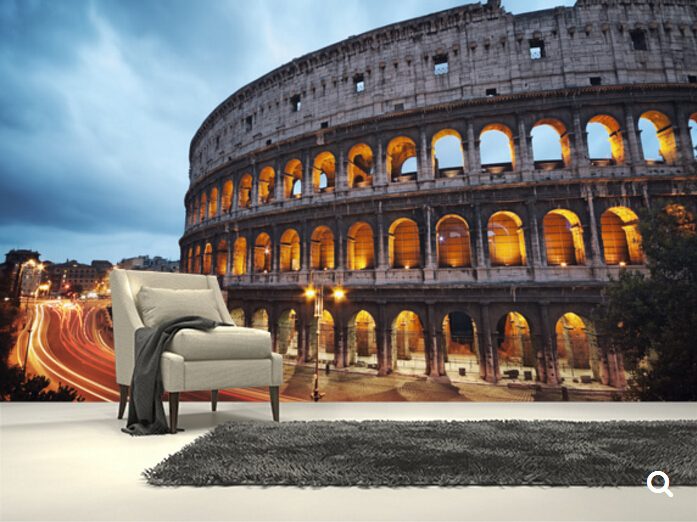 Custom Natural Wallpaper.The Colosseum, Rome,3D Landscape Wallpaper For Living Room Bedroom Kitchen Background Wall Wallpaper