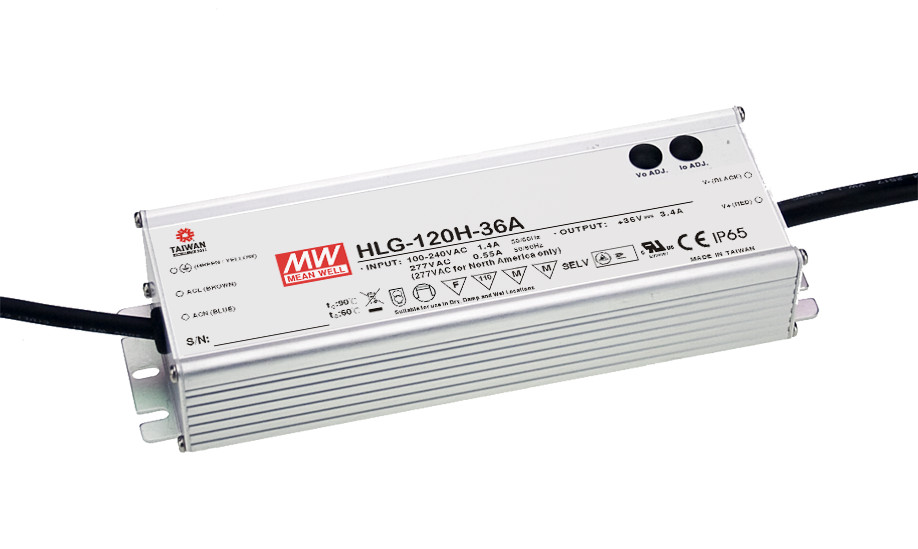 [PowerNex] MEAN WELL original HLG-120H-36A 36V 3.4A meanwell HLG-120H 36V 122.4W Single Output LED Driver Power Supply A type genuine mean well hlg 320h 36b 36v 8 9a hlg 320h 36v 320 4w single output led driver power supply b type