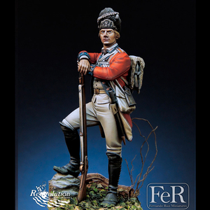 1/24 Royal Welch Fusiliers, Bunker Hill, 1775, Resin Model figure GK, Historical themes, Unassembled and unpainted kit(China)