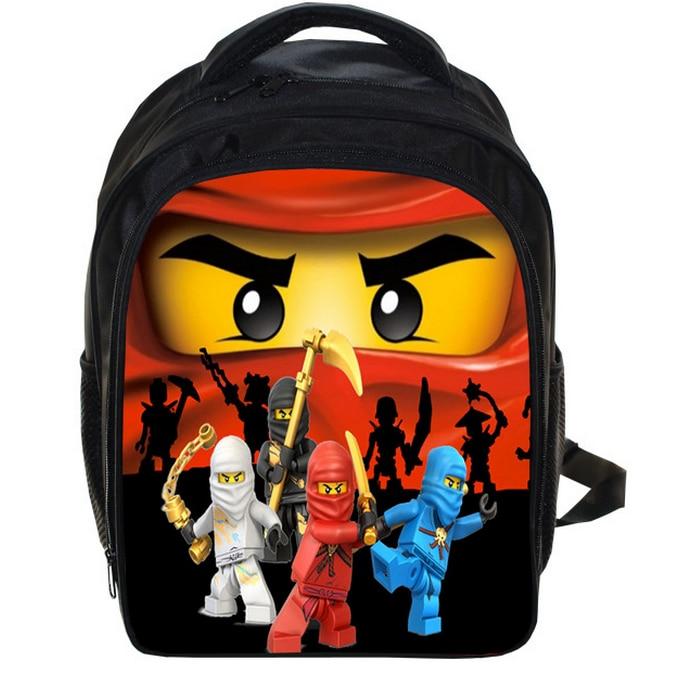 3e5810a59c 13 Inch Lego Ninja Batman School Bags for Kindergarten Children kids School  Backpack for Girls Boys