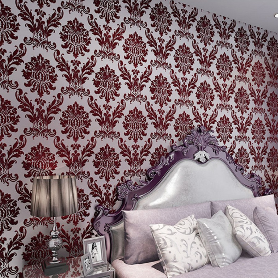 beibehang papel de parede Bedroom Vinyl 3D wallpaper for walls 3 d Wall paper Roll Europe Damascus velvet wall papers home decor beibehang embossed damascus papel de parede 3d wallpaper for walls 3 d wall paper for living room mural home decor wall covering