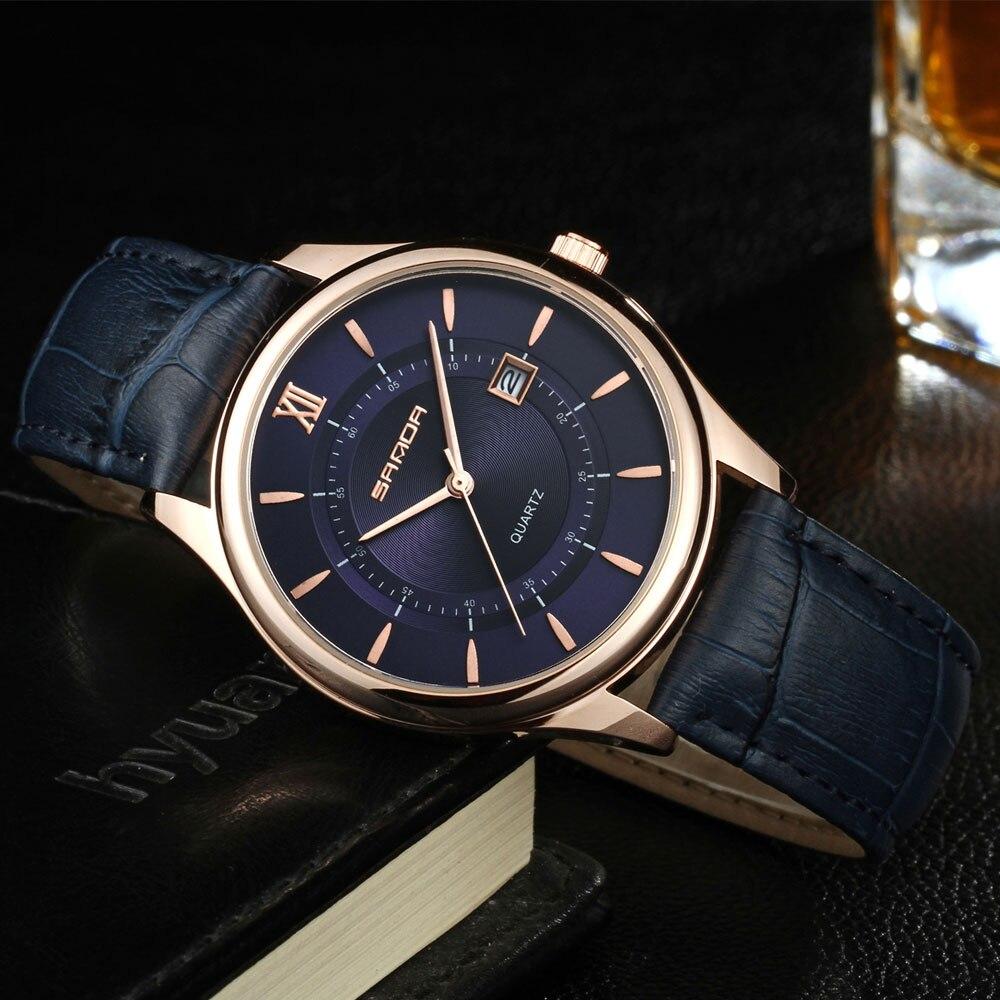 SANDA Business Wrist Watch Men Watches Top Brand Luxury Famous Male Clock Quartz Wristwatches For Man Hodinky Relogio Masculino стоимость