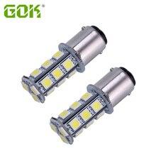 2 шт. 1156 BA15S 1142 BA15D 18SMD 5050 светодиодный внутренний светодиодный 1157 1156 1142 лампы прицеп Замена светодиодный светильник лампа морской шлюпочная фара