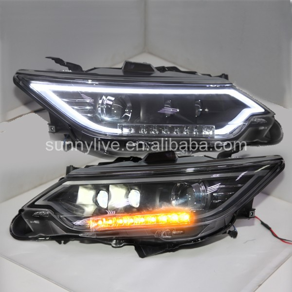 For TOYOTA camry  V55 Camry 2014  LED Head lamp LF 2014 2015 year camry v55 led bumper light for toyota v1
