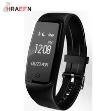 Hraefn Умный Браслет S1 Heart Rate monitor blueototh smartband Фитнес трекер IP68 Водонепроницаемый Для Android IOS ПК ми группа 2