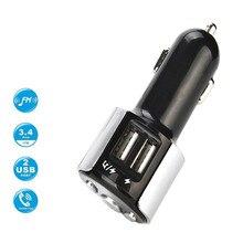 Fm-передатчик MP3 музыкальный плеер Hands-free 5V 2.4A автомобильное зарядное устройство прикуриватель двойной USB привод автомобиля SD AUX