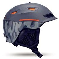 010404 Snow Unisex Ski Helmet Breathable Ultralight Skiing Cap For Men Women Snowboard Skateboard Winter Outdoor