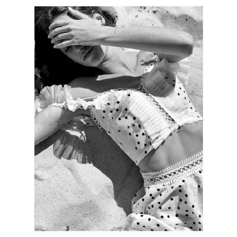 Été nouveau 2019 Sexy femmes découpe dentelle point Camis mode débardeur plage Style volants court Camis gilet
