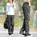 2017 Мода Стиль Полные Штаны Женщин Случайные Jogger Брюки-Карго Брюки Женщина Бесплатная Доставка