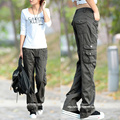 2017 Moda Estilo Calças Cheios Mulheres Carga Calças Mulher Calças Basculador Casuais Frete Grátis