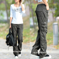 Fashion Style Full Pants Women Casual Jogger Cargo Pants Woman Trousers Free Shipping