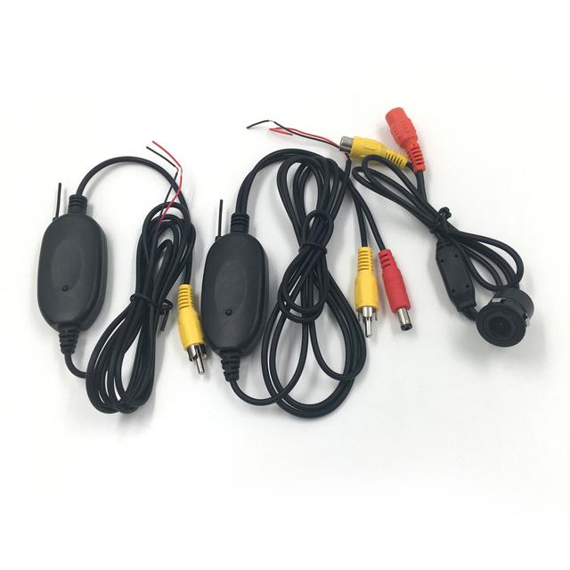 Venda quente 18.5mm Car Câmara de Visão Traseira Reversa de Backup Camera + 2.4G Transmissor Sem Fio Receptor Sem Fio para o Estacionamento