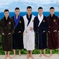 Men bathrobe plus size XL winter thicken long men's robe blanket towel fleece high-end bathrobes home hotel love soft autumn