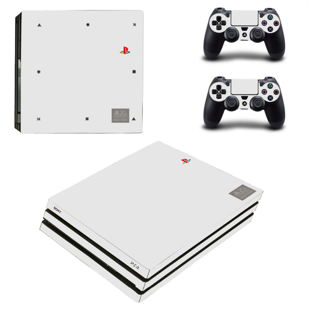 Pure Color White Black Green Blue Red PS4 Pro Skin Sticker For Sony PlayStation 4 Console and Controllers PS4 Pro Skin Stickers