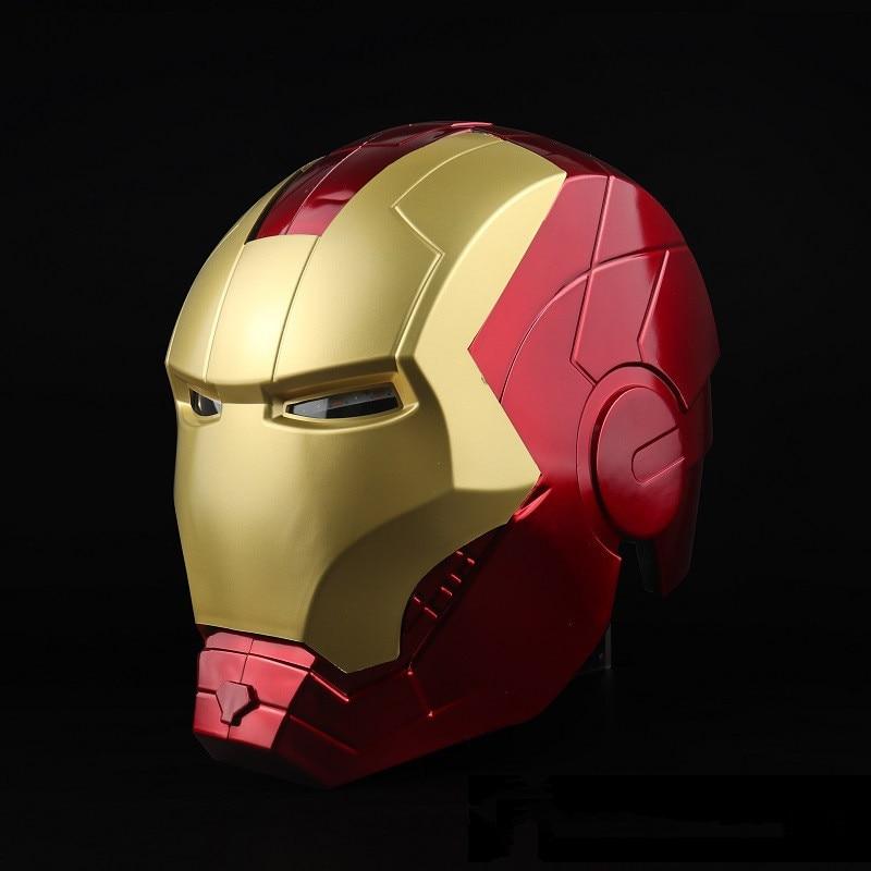 Anime Avengers Endgame Iron Man Cosplay masque Tony Stark pleine tête LED casque ouvert PVC masques enfant adulte Halloween fête nouveau