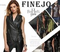 Women Vest PU Leather Soft Motorcycle Pocket Waistcoat Biker Leisure Coat Outerwear Black Chaqueta De Mujer Sin Mangas