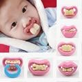 Chupetes divertidos de silicona bebé chupete Teether soother seguridad Novedad Maniquíes Maniquí ortodoncia chupete alimentación del bebé