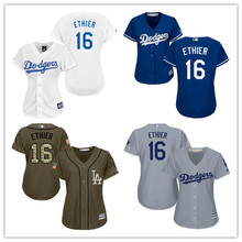 2684634b3a6 Women s Los Angeles Dodgers Andre Ethier Mother s Day White Blue Gray Cool  Base Embroidery Sewing Baseball Jersey Size XS-4XL