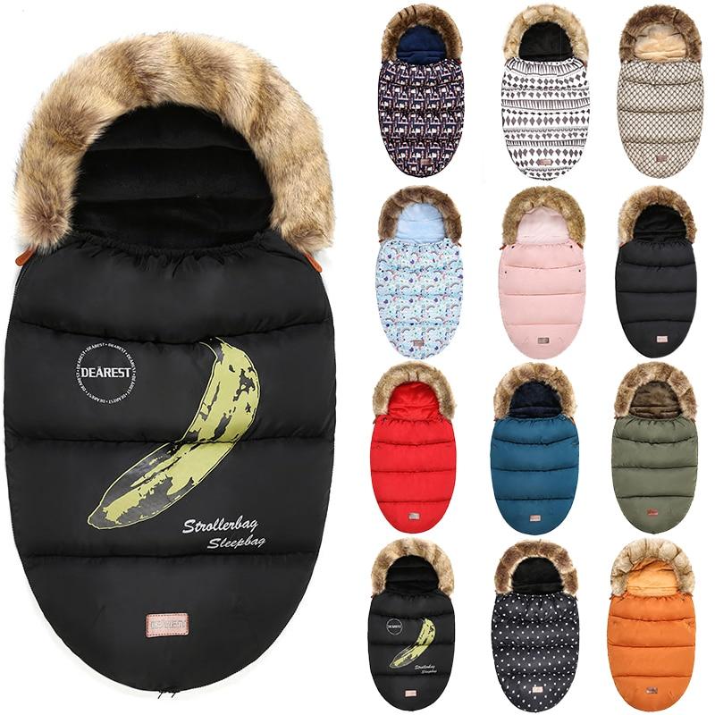 Bébé Poussette sac de couchage Hiver Chaud Sleepsack Coupe-Vent Pour Infantile Fauteuil Roulant Enveloppes Pour Bébé Chancelière Nouveau-Né Sleepsacks