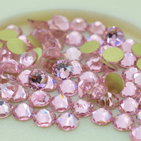 Flatback Strass Rhinestone Pink Color 16 Cut Face Crystals ss20 4.6 4.8mm Light Rose Non hotfix Nail Art Rhinestones