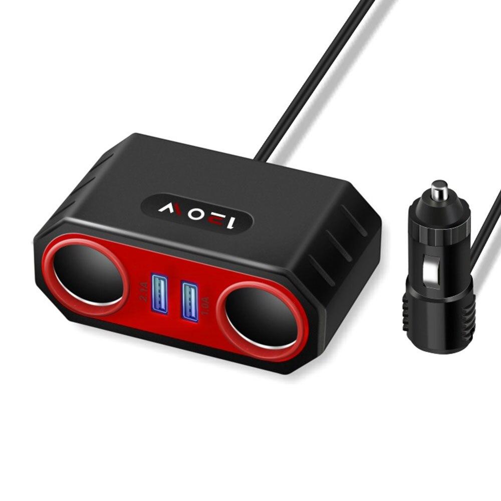 Vehemo прикуриватели розетки Dual USB Автомобильное быстрое зарядное устройство Автомобильный адаптер для зарядного устройства зарядное устройство Универсальный адаптер внутренние части - Название цвета: Black