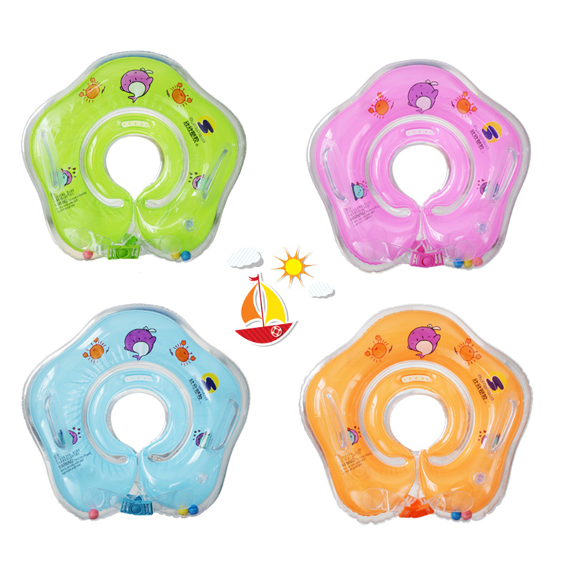 2017 New Baby Inflatable Swimming Neck Float Inflatable Tube Ring Safety Child Toys 0-12 Monthes Babies Swim Ring piscine accessoires pool baby swimming pools eco friendly pvc baby inflatable swim accessories water swim float necessaries