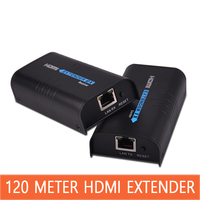 HDMI Extender 120 м аудио и видео синхронизации CAT5E/6 RJ45 сетевой кабель передачи HD видео усилитель сигнала