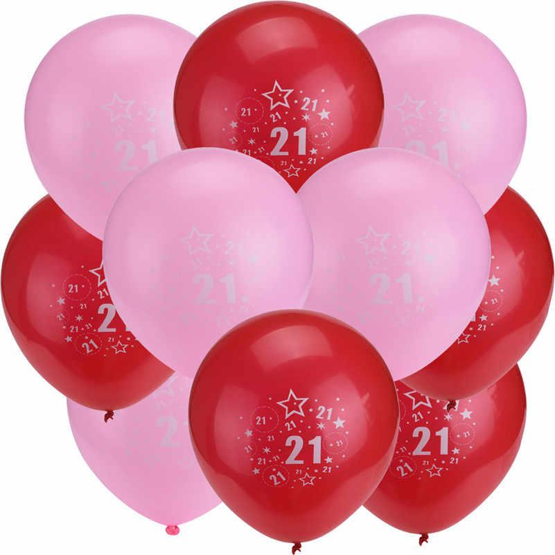 Новая распродажа печатных смайлик латексные шары с днем День рождения украшения надувные воздушные шары для 21 рождения подарок L4