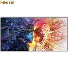 цена Peter ren Diamond painting cross stitch Fantasias 3 Round\Square mosaic Picture of rhinestones Full Embroidery