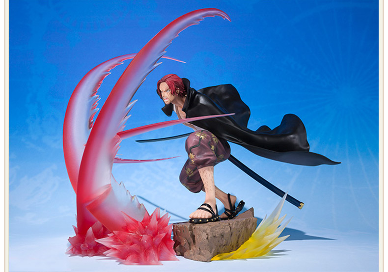 Anime One Piece Zero Shanks Battle Ver Action Figure Collection Toy 17CM