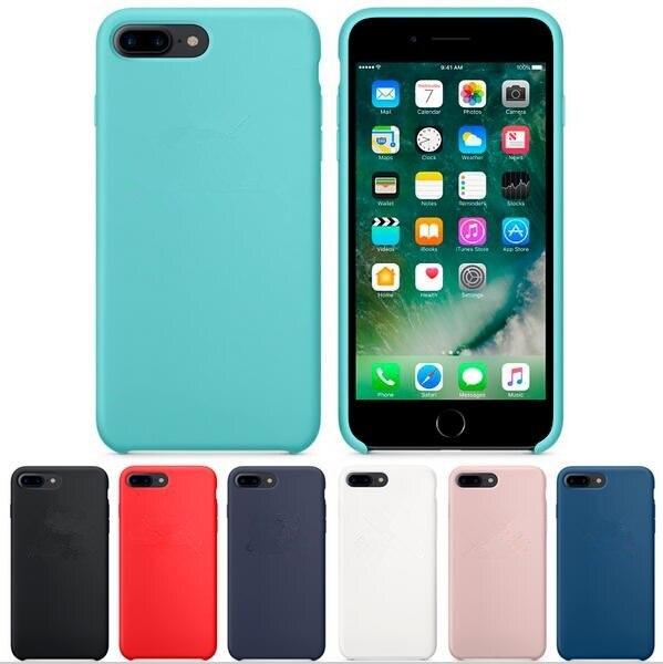 Custodia in silicone Per iPhone 8 7 Borse di Telefonia mobile Casi Della Copertura per il iphone 7 8 Plus Con Logo Ufficio Copia Originale Coque Fundas