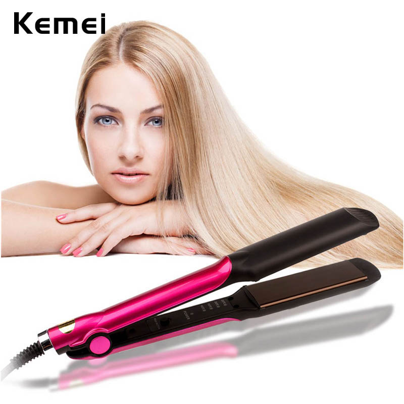 110-240V Flat iron Ceramic Hair Straightener Professional Straightening Irons Hair Curler Temperature Control Hair Styling Tool kemei professional ionic flat iron electric ceramic anion hair straightener curler straightening irons adjustable temperature