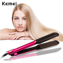 Cheap price 110-240V Flat iron Ceramic Hair Straightener Professional Straightening Irons Hair Curler Temperature Control Hair Styling Tool