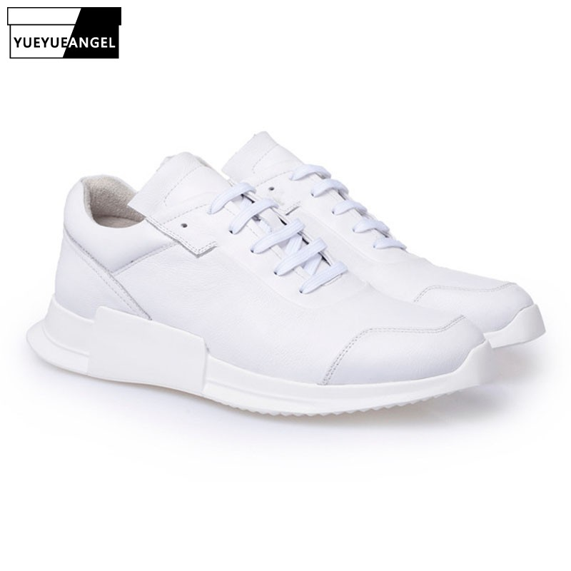 2019 Spring Breathable Mens Sneakers Real Leather-based Black Peak Elevated Man Sneakers Thick Platform Sapato Masculino US 6-9.5 Males's Informal Sneakers, Low-cost Males's Informal Sneakers, 2019 Spring Breathable Mens...