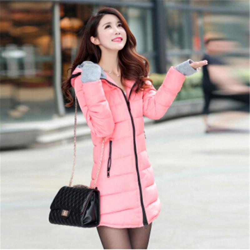 Plus Size Winter Jacket Women Long Parka Outerwear Women's Down Wadded Jackets Female Hooded Coat Casual Overcoat Coats C1252
