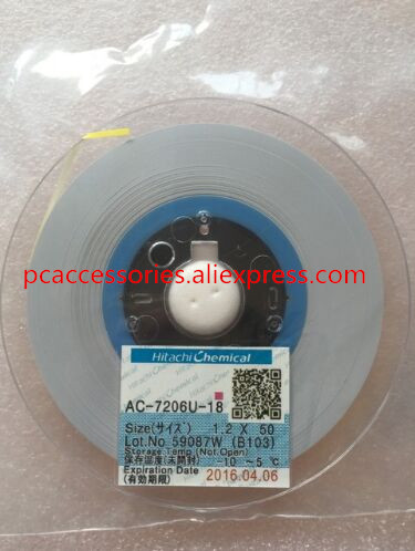 Original AC-7206u-18 W1.2mm L50m 1.2MM*50M ACF Conductive Film Anisotropic Film Adhesive For Lcd Repair On FPC To PCB