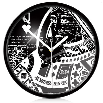 Creative Art playing card Wall Clock Classic queen pattern wall clock