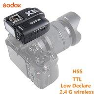 Godox X1T S TTL 1/8000s 2.4G אלחוטי הדק Trans mi tter עבור Sony Alpha A6000 A6500 A6300 a58 A7SII A37 מצלמות עם mi נעל-בפלאשים מתוך מוצרי אלקטרוניקה לצרכנים באתר