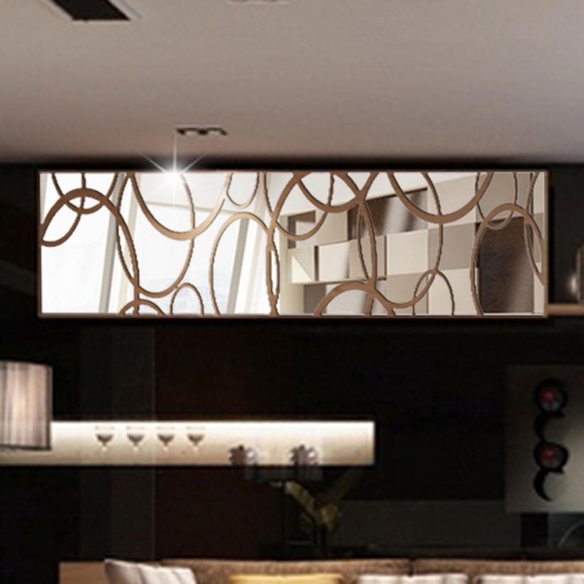 nuevo popular diy moderno plstico acrlico d espejo etiqueta arsaln dormitorio etiqueta de la
