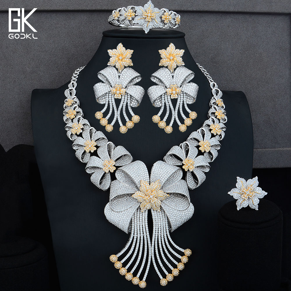 GODKI BIG Luxury 4PCS African Jewelry Sets For Women Wedding AAA Cubic Zirconia Crystal CZ Engagement DUBAI Bridal Jewelry SetsGODKI BIG Luxury 4PCS African Jewelry Sets For Women Wedding AAA Cubic Zirconia Crystal CZ Engagement DUBAI Bridal Jewelry Sets