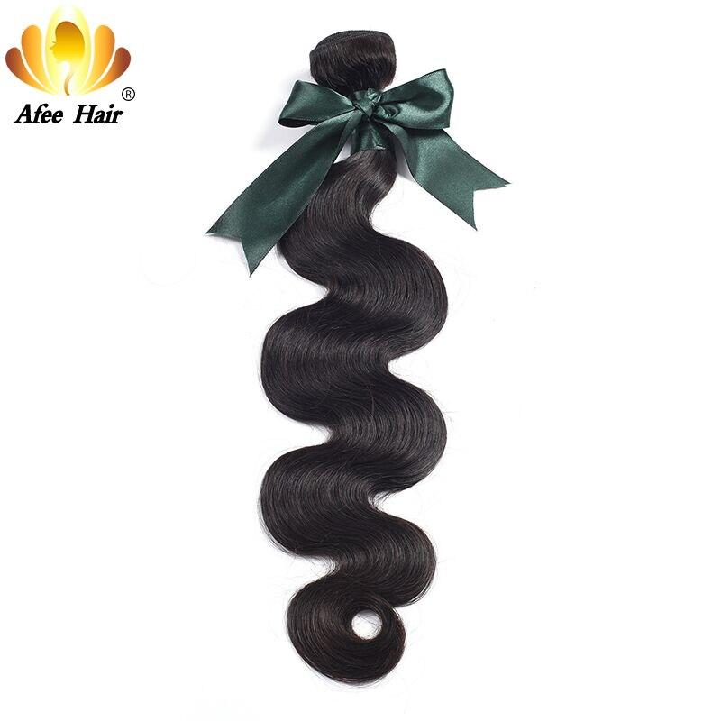 Ali Afee Produk Rambut Gelombang Tubuh Brazilian 1 pc Ekstensi Rambut - Rambut manusia (untuk hitam)
